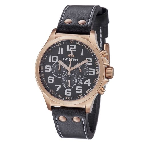 TW STEEL Pilot Gold 45mm Chronograph Gents Watch TW418